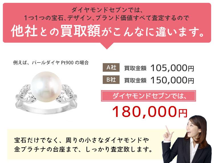真珠 高額買取 大阪 心斎橋